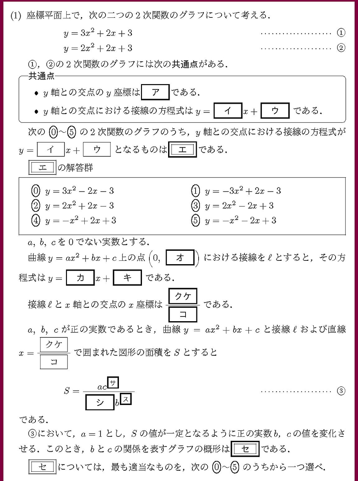 21共通テストIIB2