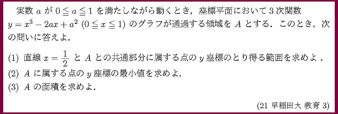 21早稲田大・教育3